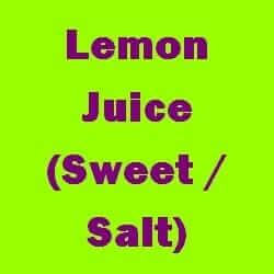 Lemon Juice Sweet Salt