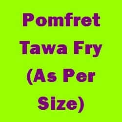 Pomfret Tawa Fry As Per Size